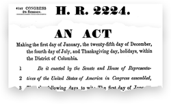 illustration 10 hr 2224 1870 adopts independence day christmas new years and thanksgiving as national holidays thanksgiving was not yet given an - When Did Christmas Become A National Holiday